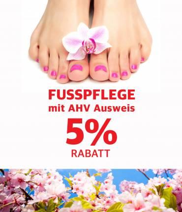 Fusspflege mit AHV Ausweis 5% Rabatt